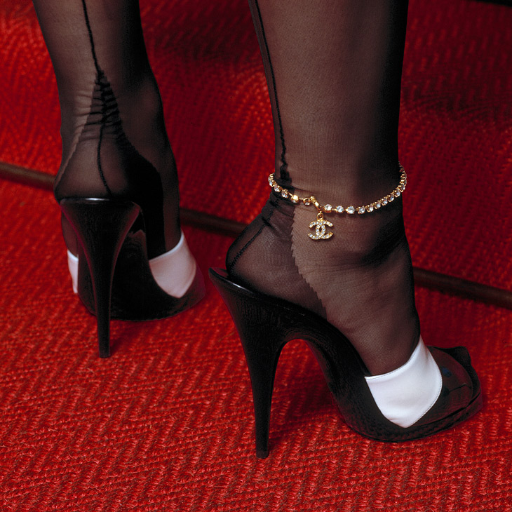Chanel anklet and Chanel shoes