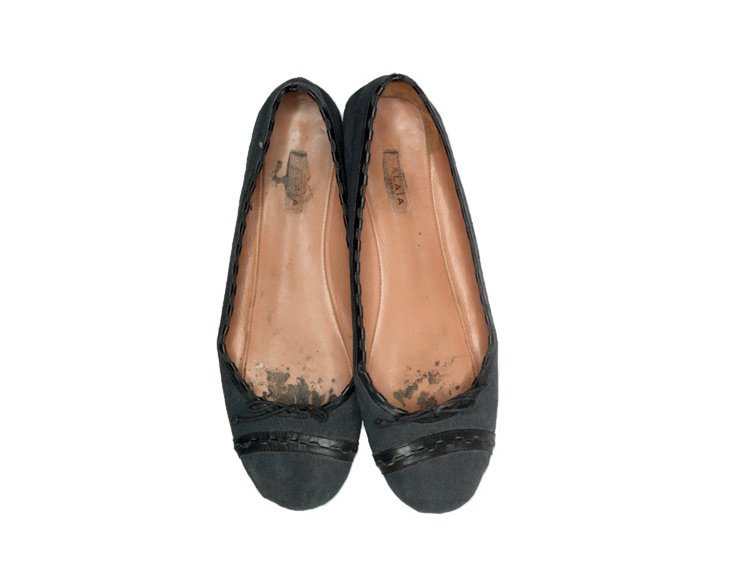 Alaïa ballet flats ballet flats ballerina flats in canvas and leather sex object