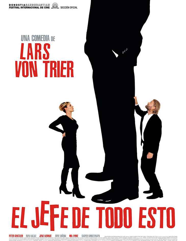The Boss of it all by Lars von Trier, movie poster photographed by Hansen-Hansen.com