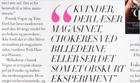 Erik Hansen-Hansen quoted in Danish fashion magazine Costume January  2012