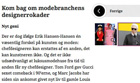 Erik Hansen-Hansen interviewed in the Danish magazine Costume 2012 April