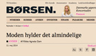 Post image for News: Erik Hansen-Hansen quoted in Børsen May 2014