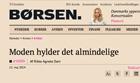 Post image for News: Erik Hansen-Hansen quoted in Børsen May 2014