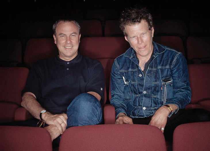 Robert Wilson and Tom Waits photographed by Hansen-Hansen.com at the Betty Nansen theatre, 2001