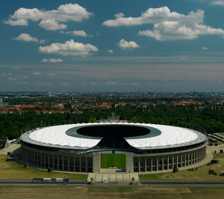 Olympiastadion Berlin (the Olympic Stadium), 2011, photographed by hansen-hansen.com