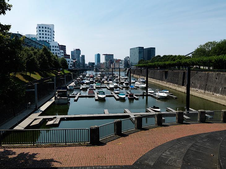 View of Düsseldorf Medienhafen