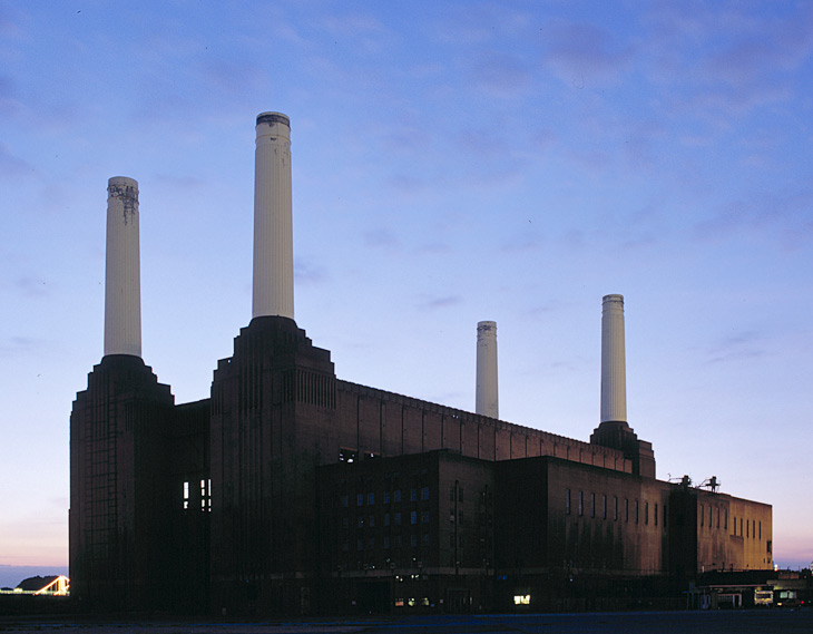 Battersea Power Station in London by Theo J. Halliday and Sir Giles Gilbert Scott