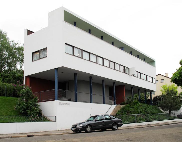 Haus 14-15 by Le Corbusier & Pierre Jeanneret at The Weissenhof Estate in Stuttgart photographed by Hansen-Hansen.com, 2009